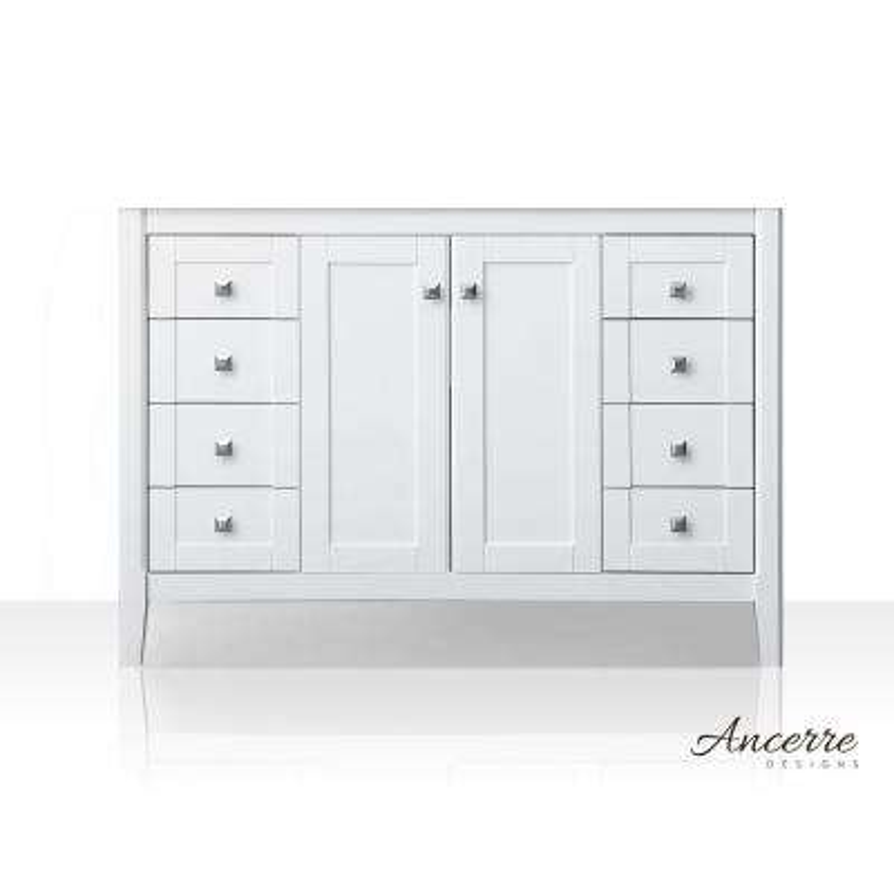 Shelton 47 in. W x 21 in. D Vanity Cabinet Only in White