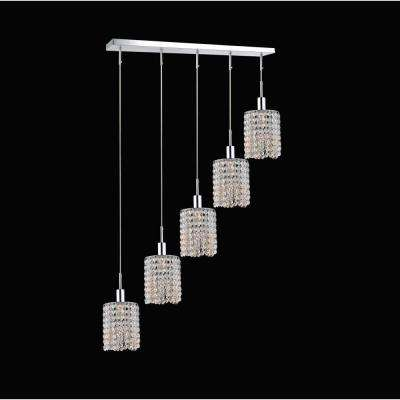 Glitz 5-Light Chrome Pendant