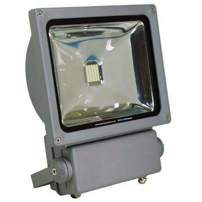 Super Bright 30 Integrated LED 6000K Motion Activated Grey Outdoor Solar Power Flood/Security Flood Light Remote Control