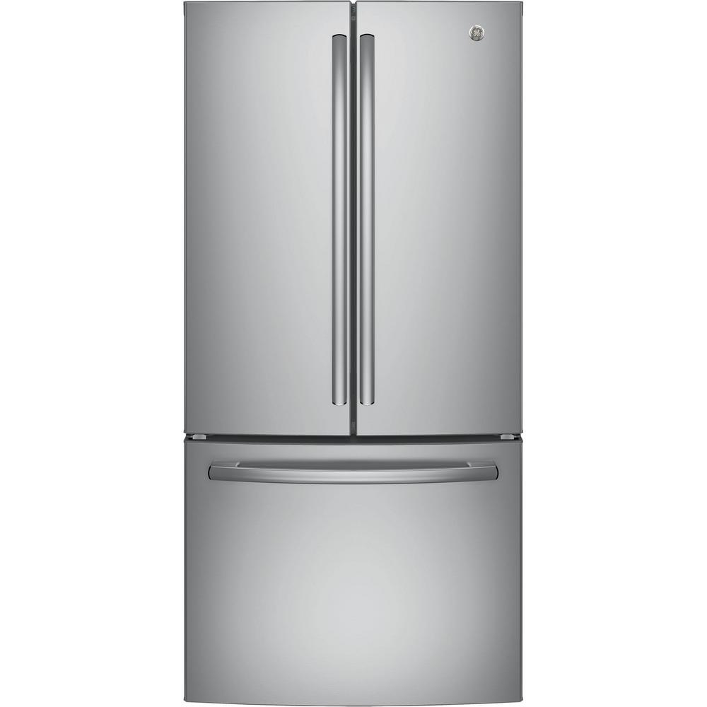 Superieur GE 33 In.18.6 Cu. Ft. French Door Refrigerator In Stainless Steel,