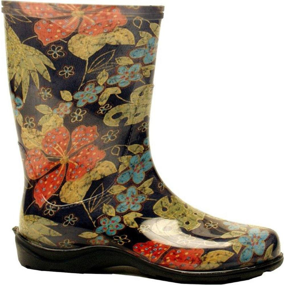 Sloggers Size 8 Women S Midsummer Black Tall Rain And Garden Boot