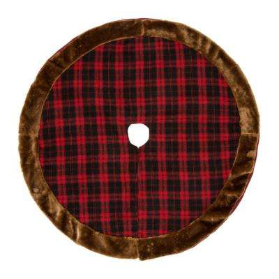 46.5 in. D Plaid Christmas Tree Skirt