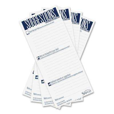 8 in. x 3.50 in. Suggestion Box Card Refills (25/Pack)