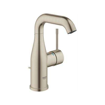 Essence New 4 in. Centerset Single-Handle 1.2 GPM Bathroom Faucet in Brushed Nickel Infinity