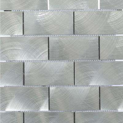 Urban Silver 12 in. x 12 in. x 8 mm Aluminum Mosaic Tile