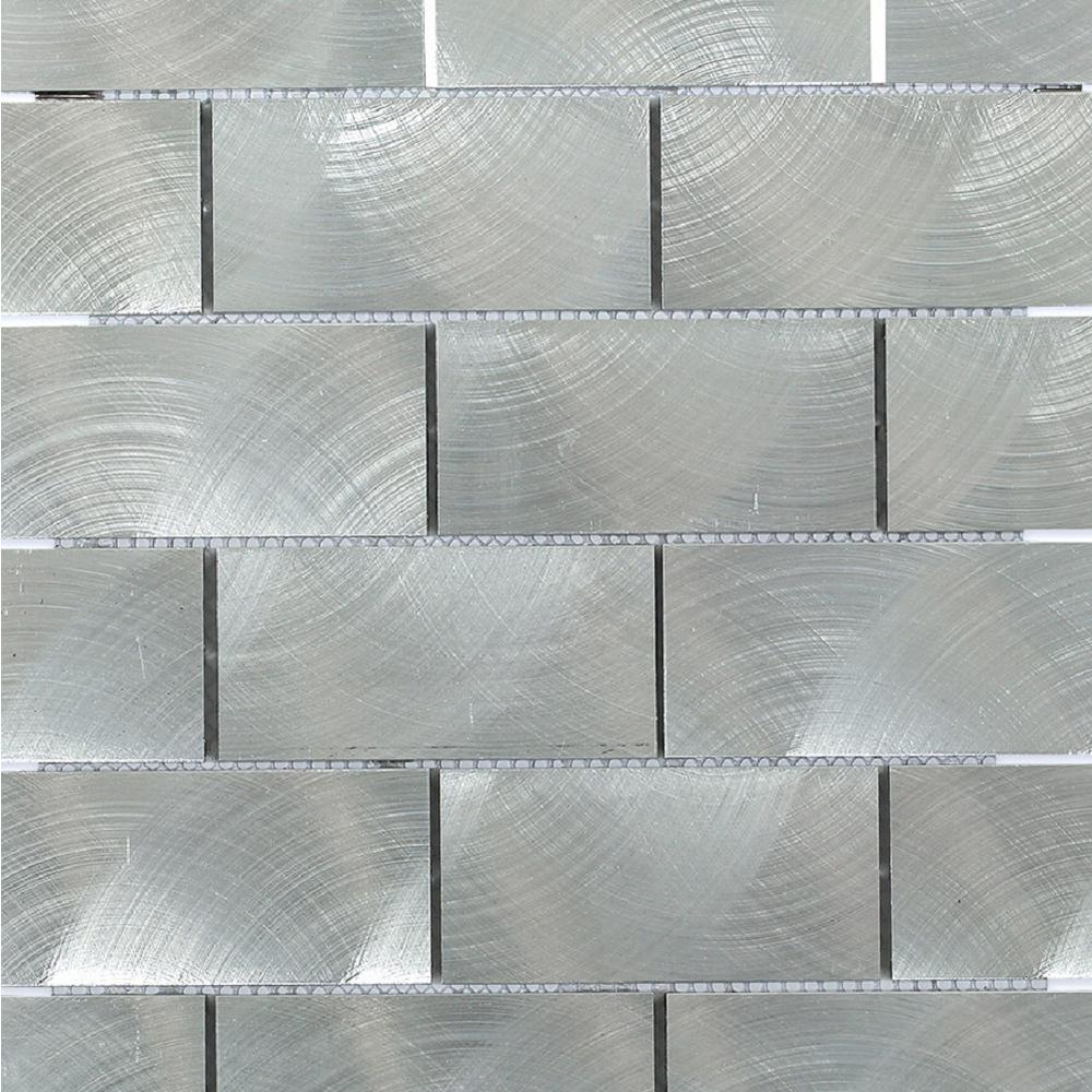 Ivy Hill Tile Urban Silver 12 In X 12 In X 8 Mm Aluminum