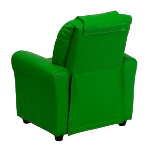 +2. Flash Furniture Contemporary Green Vinyl Kids Recliner ...