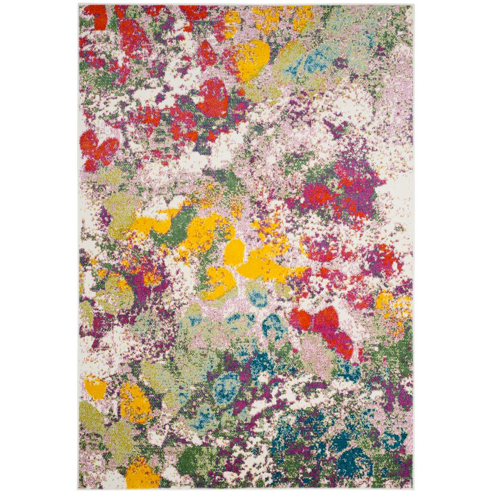 Safavieh Watercolor Light Green Rose 7 Ft X 9 Ft Area Rug Wtc696e 6 The Home Depot