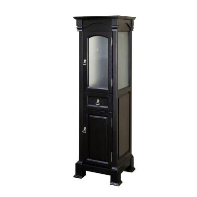 Bloomfield 18 in. W x 65 in. H x 17 in. D Bathroom Linen Storage Cabinet in Espresso