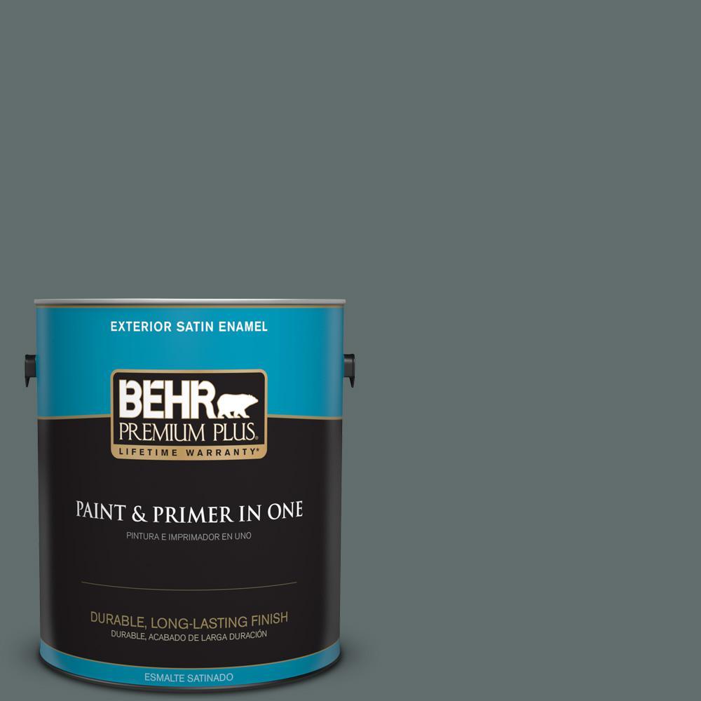 1 gal. #PPU12-19 Mountain Pine Satin Enamel Exterior Paint