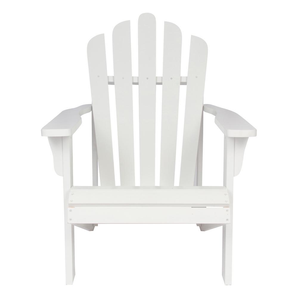Heavy Duty Sun Lounger, Shine Company Westport White Cedar Wood Adirondack Chair 4611wt The Home Depot