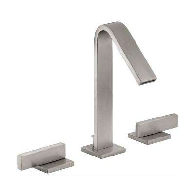 Loure 8 in. Widespread 2-Handle Water-Saving Bathroom Faucet in Vibrant Brushed Nickel