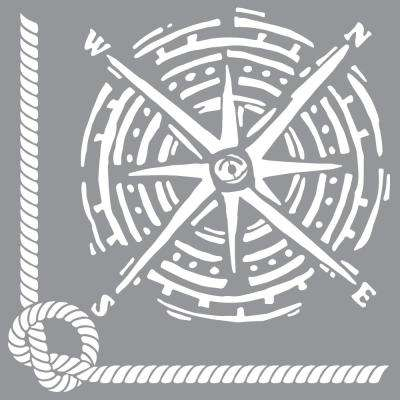 12 in. x 12 in.  Nautical Knot Stencil