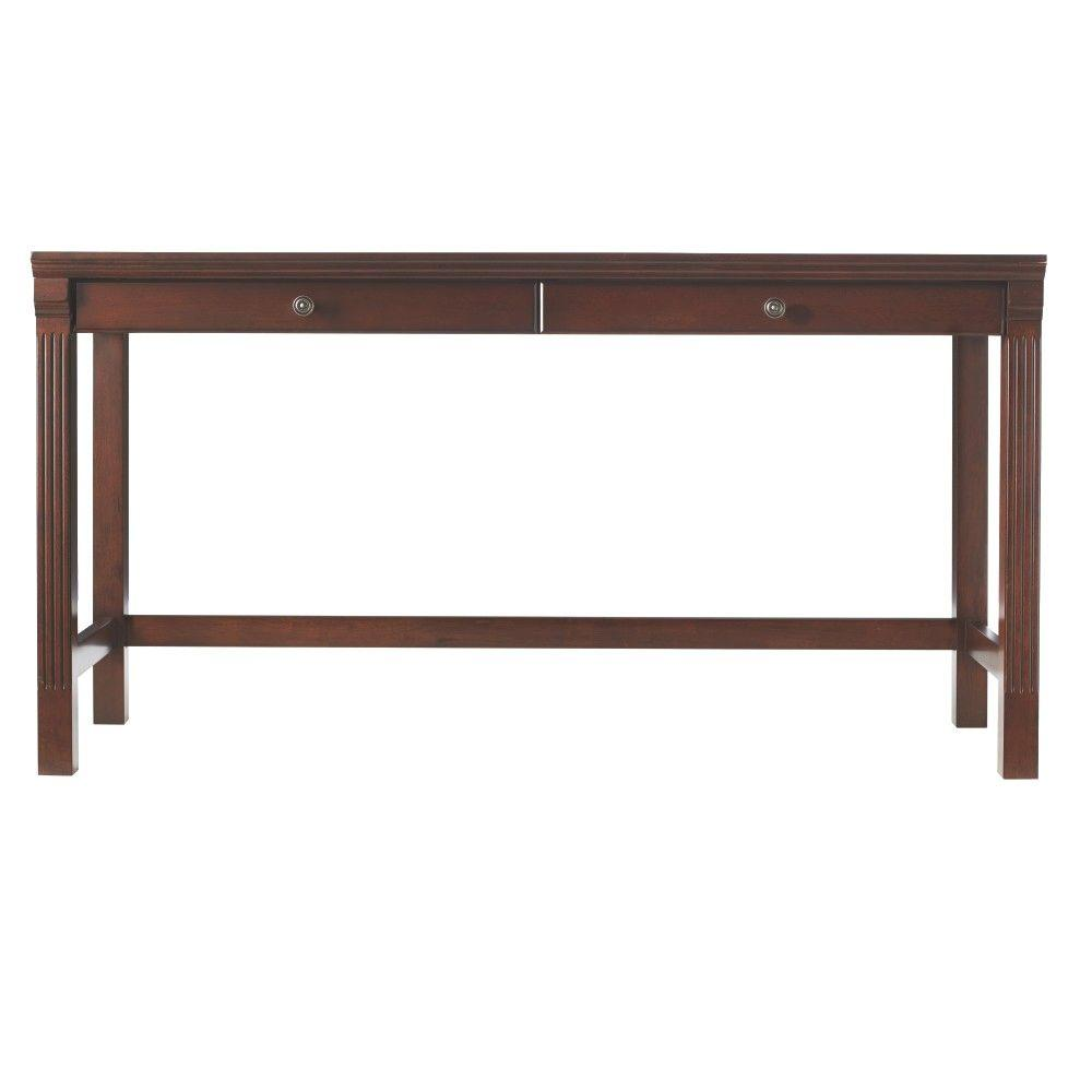 Home Decorators Collection Edinburgh Espresso Modular Writing Desk 6237 885 The Home Depot