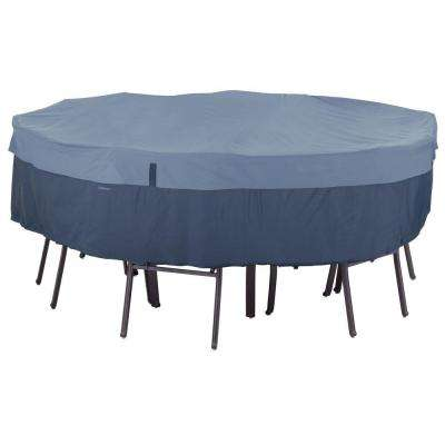 Belltown Medium Skyline Blue Round Table and Patio Chair Set Cover