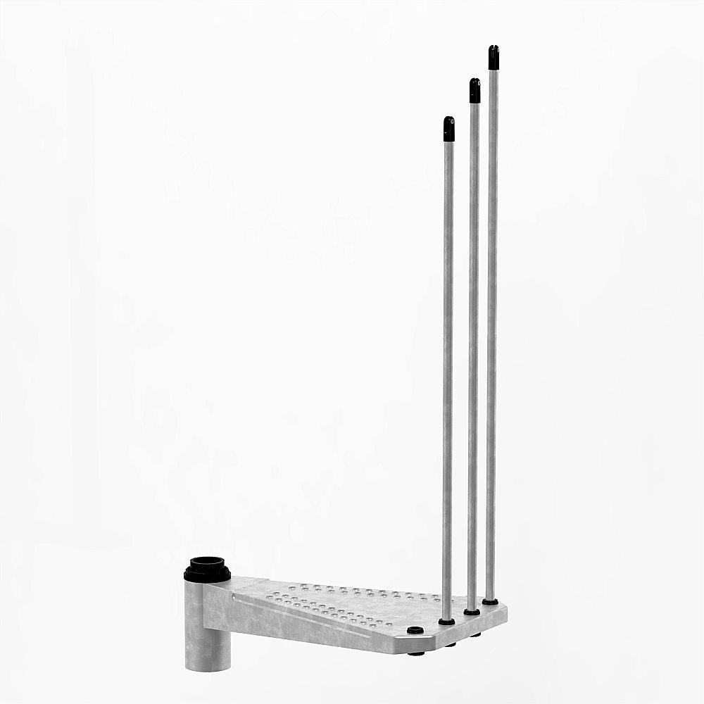 Arke Enduro 55 in. Galvanized Spiral Staircase Add Riser
