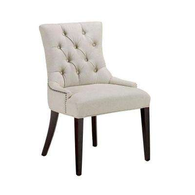 Becca Natural Linen Tufted Dining Chair (Set of 2)