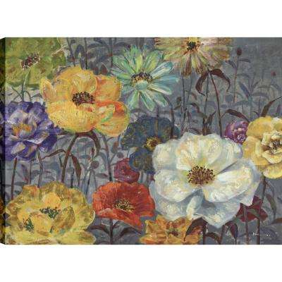Floral Poppies II, Floral Art, Canvas Print Wall Art Dcor 30X40 Ready to hang by ArtMaison.ca