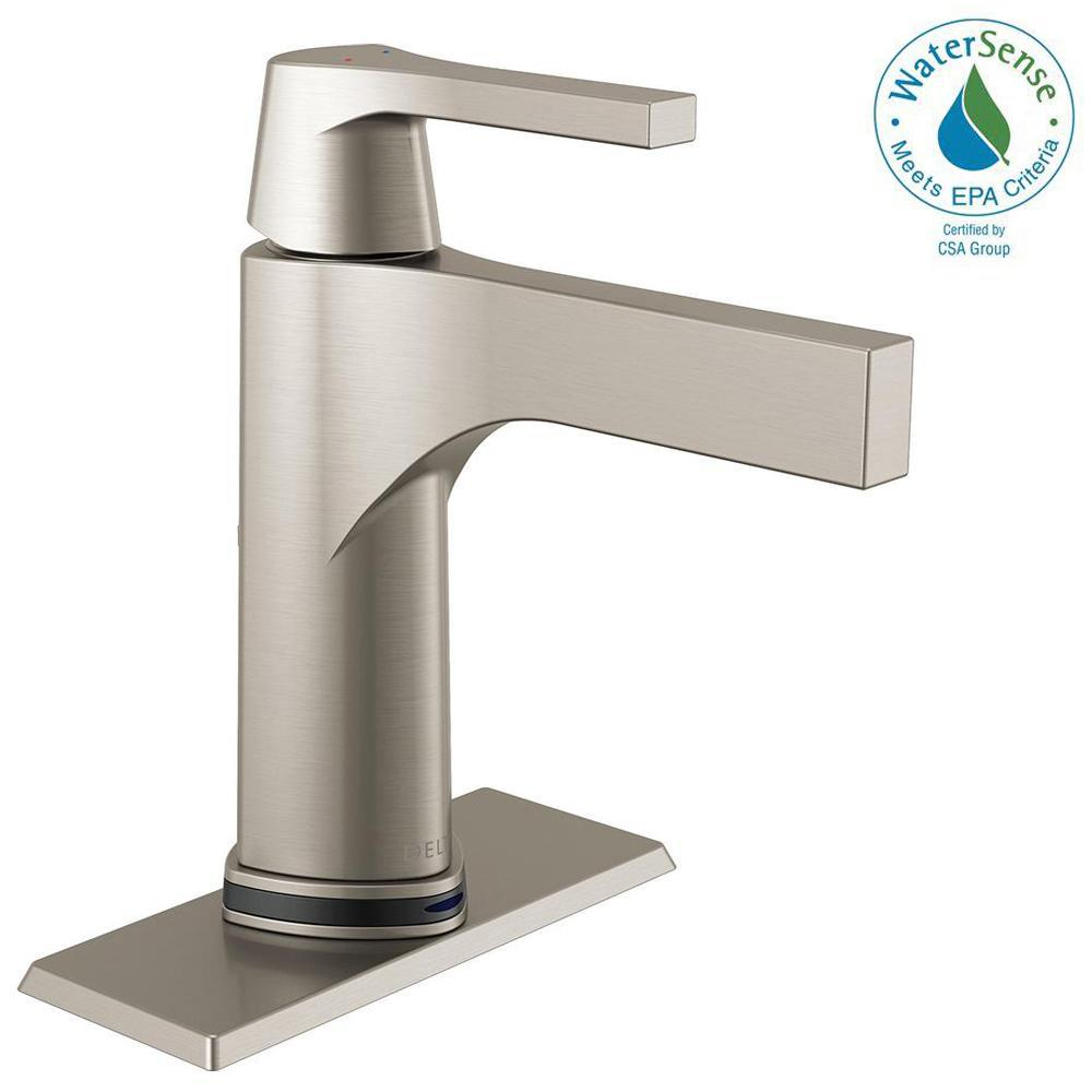 Delta Zura Single Hole Single-Handle Bathroom Faucet with Touch2O.xt ...