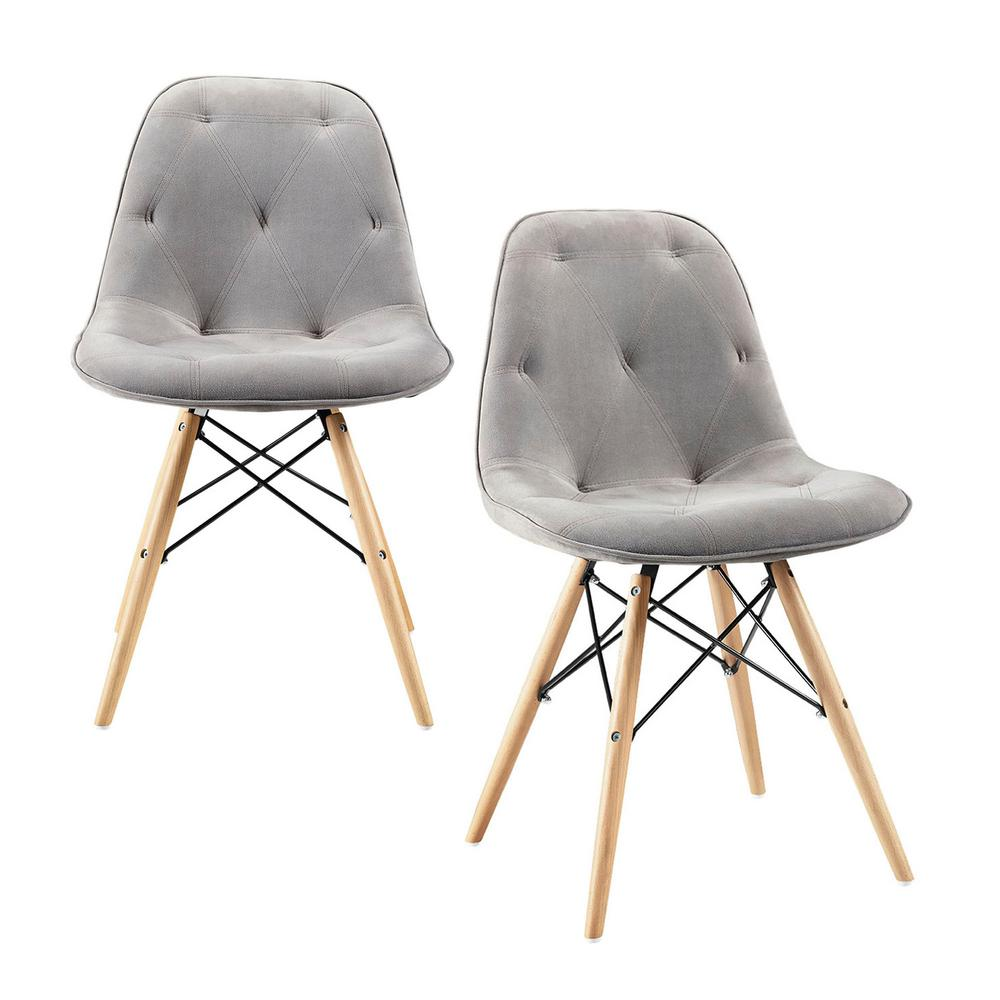 Walker Edison Furniture Company Eames Style Grey Dining Chair (Set Of 2)