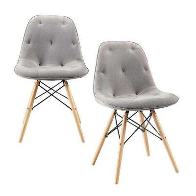 Eames Style Grey Dining Chair (Set of 2)