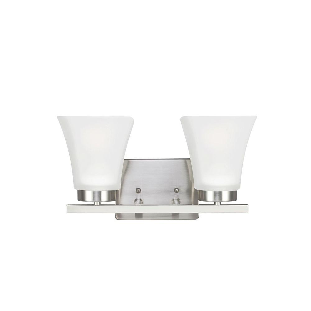 Bayfield 2-Light Brushed Nickel Wall Sconce