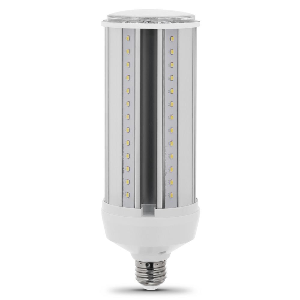 300-Watt Equivalent Corn Cob LED High Lumen Daylight (5000K) Utility LED Light Bulb (4-Pack)