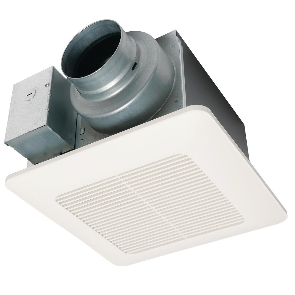 Panasonic Whisperwarm 110 Cfm Ceiling Exhaust Bath Fan: Panasonic WhisperCeiling DC Fan, With Pick-A-Flow Speed