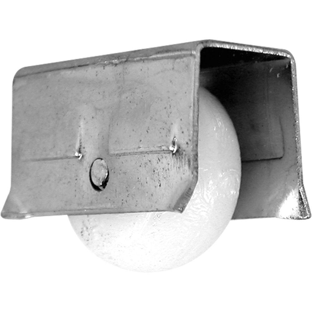 Sliding Window Roller Assembly, 1/2 in. Convex Nylon Wheel