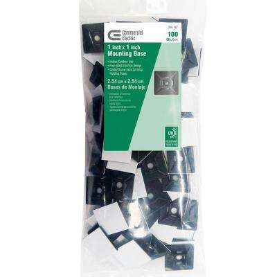 1 in. UV Mounting Base - Black (100-Pack)
