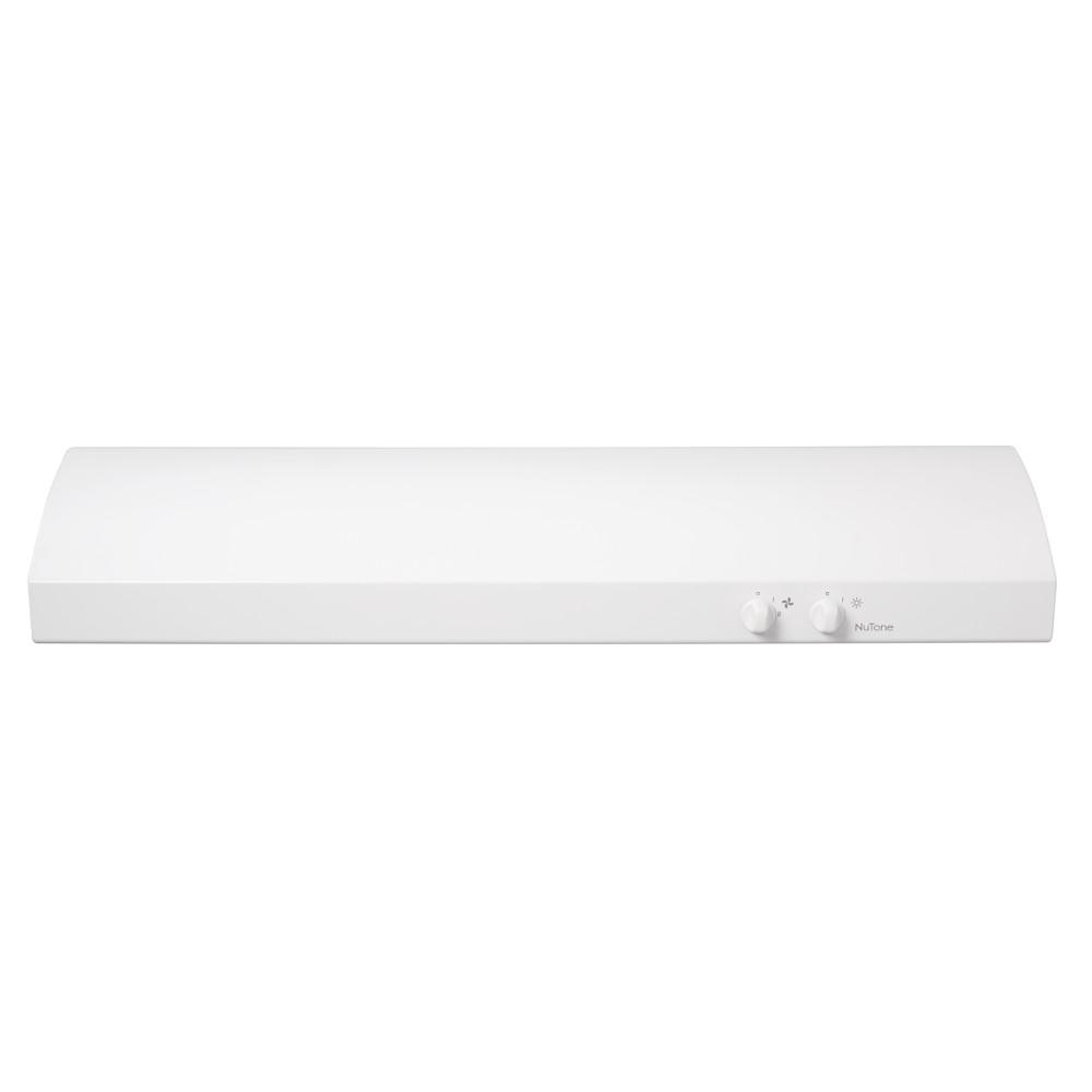 NuTone NuTone 30 in. Convertible Under the Cabinet Range Hood with Light in White