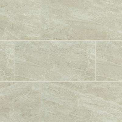 24 in. x 12 in. Everest Gray Polished Porcelain Floor and Wall Tile (16 sq. ft. / case)