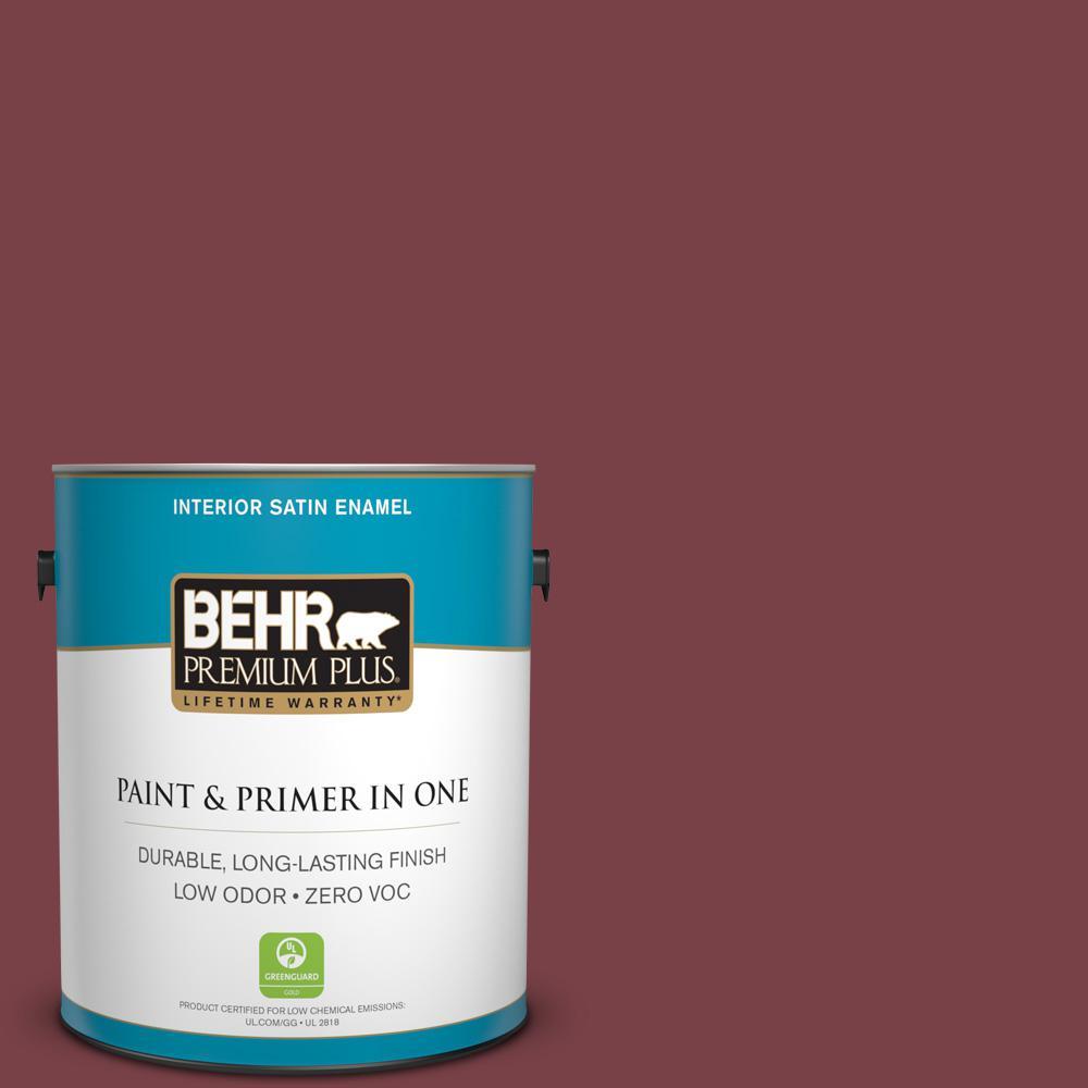 1-gal. #170F-7 Leather Bound Zero VOC Satin Enamel Interior Paint
