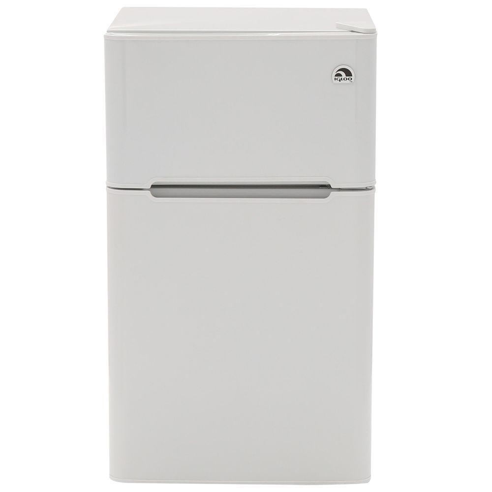 Mini Refrigerator In White, 2 Door