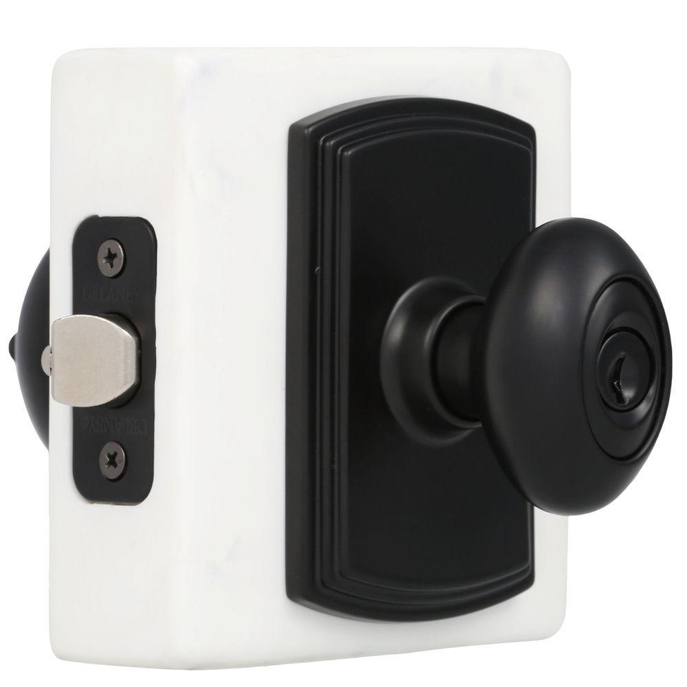Italian Collection Canova Black Keyed Entry Door Knob
