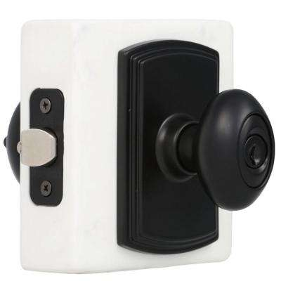 Italian Collection Canova Black Entry Knob