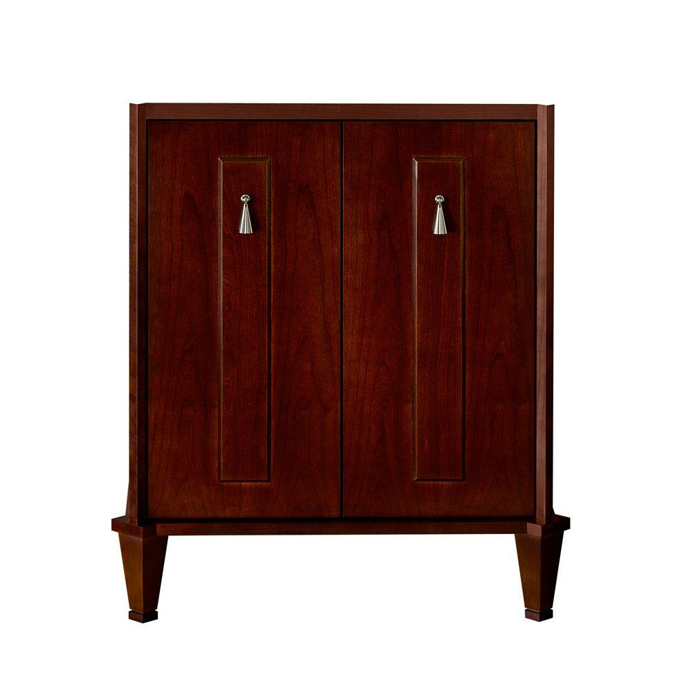 Porcher Lutezia Modernique 22-1/4 in. Vanity Cabinet Only in Cherry-DISCONTINUED