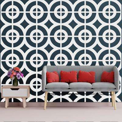 3/8 in. x 23-3/4 in. x 23-3/4 in. Large Sullivan White Architectural Grade PVC Decorative Wall Panels