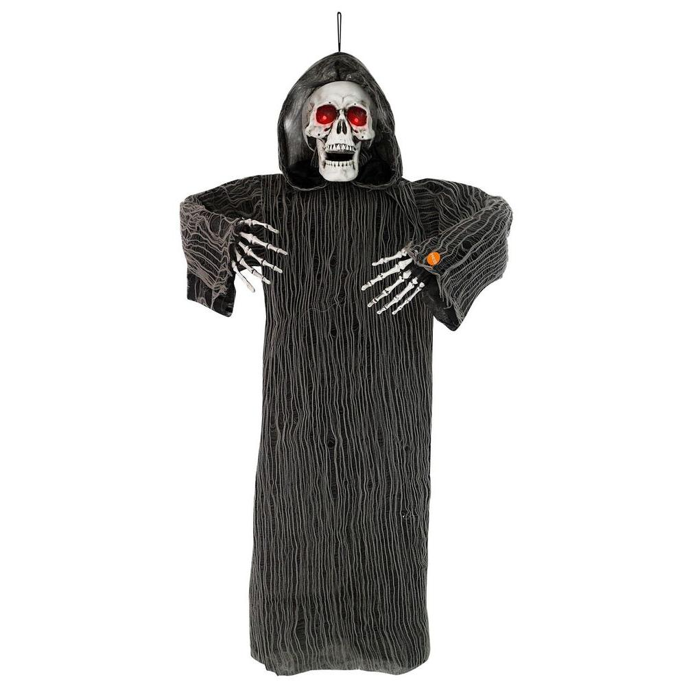 Home Accents Holiday 48 in. Hanging Animated Grim Reaper with Lights and Sound