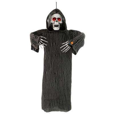 48 in hanging animated grim reaper with lights and sound