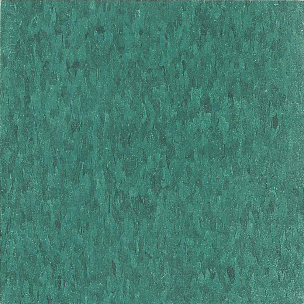 Armstrong Imperial Texture Vct 12 In X 12 In Sea Green