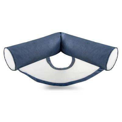 Stratus U-Seat Bean Bag Swimming Pool Float in Navy Blue, Nylon Fabric
