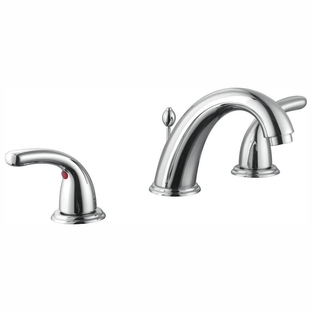 Glacier Bay Builders 8 in. Widespread 2-Handle High-Arc Bathroom Faucet in Chrome