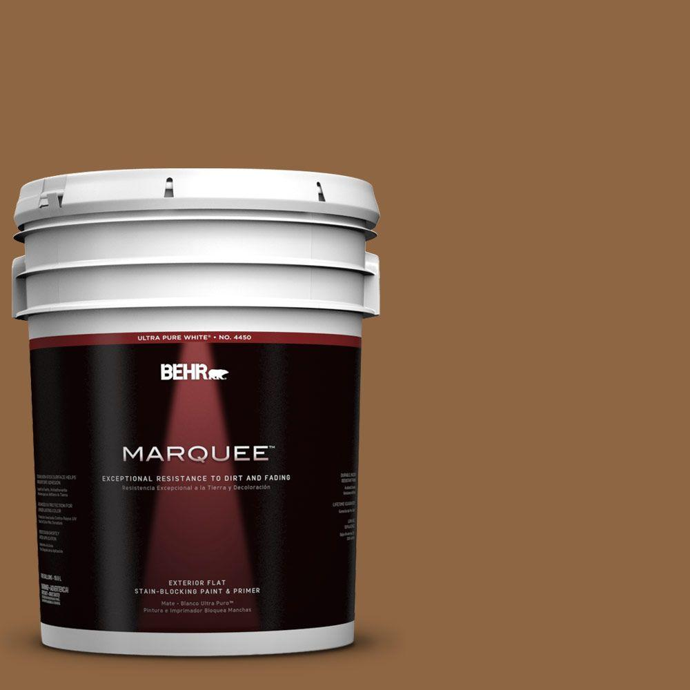 BEHR MARQUEE 5-gal. #270F-7 English Saddle Flat Exterior Paint
