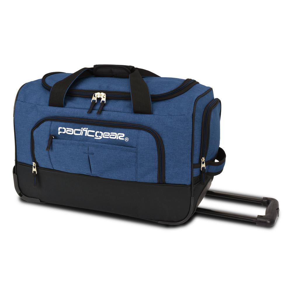 Keystone 21 in. Rolling Navy Duffel Bag