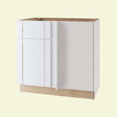 Vesper White Shaker Assembled Plywood 42 in. x 34.5 in. x 24 in. Blind Base Corner Kitchen Cabinet with Soft Close