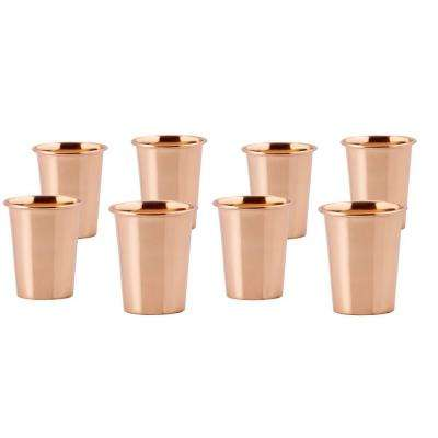 2 oz. Solid Copper Flared Shot Mug (Set of 8)