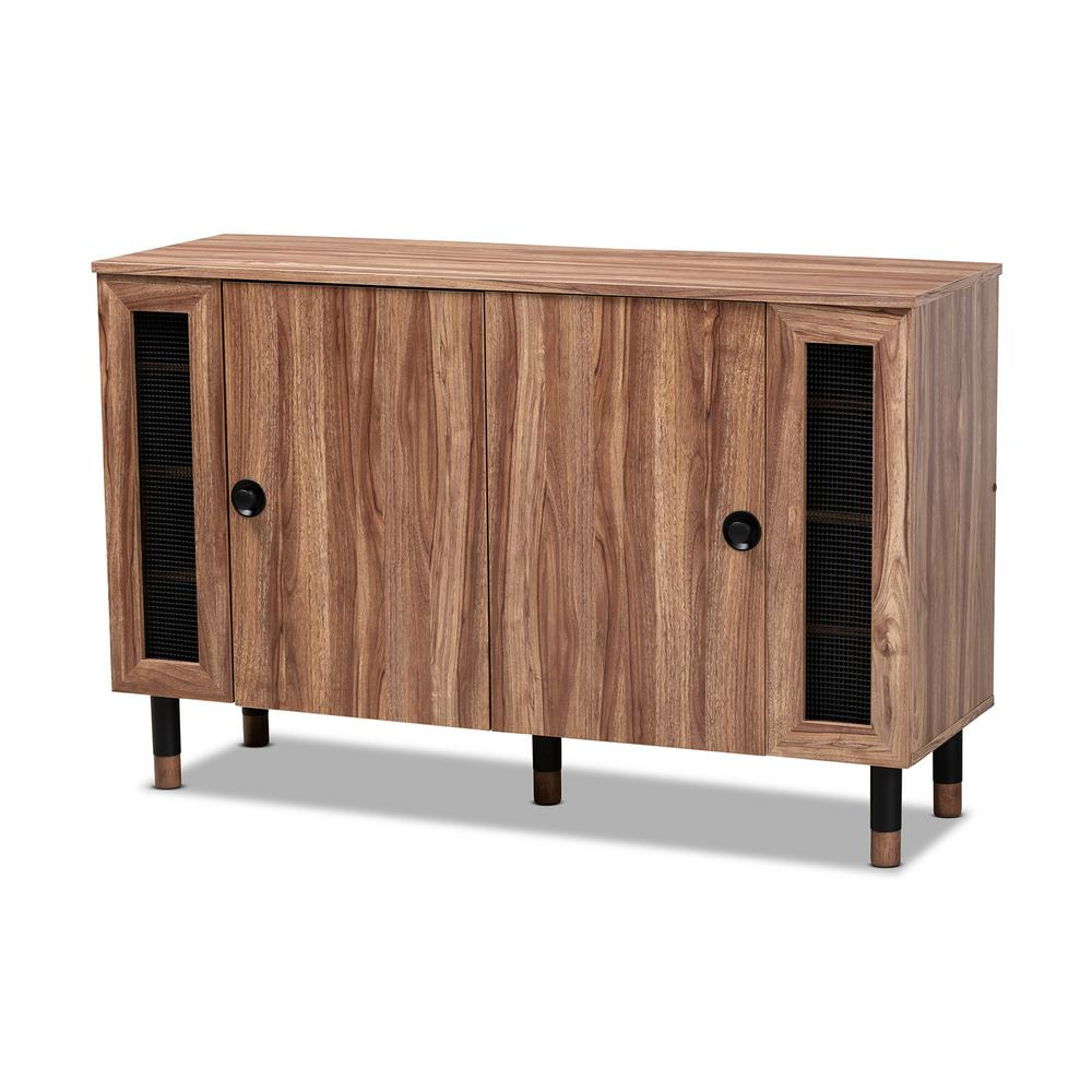 Valina 30 in. H x 47 in. W 16-Pair Oak Wood