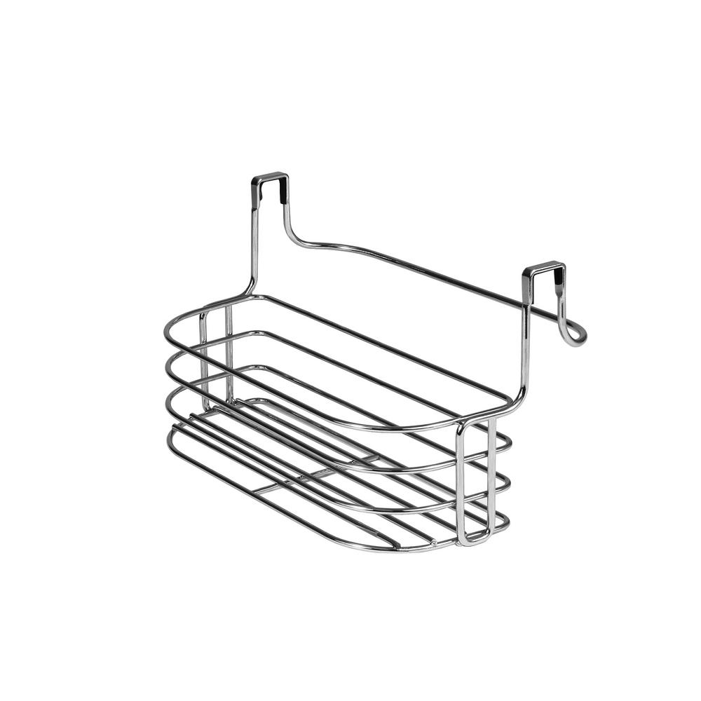 Duo Over the Cabinet Towel Bar and Small Basket in Chrome