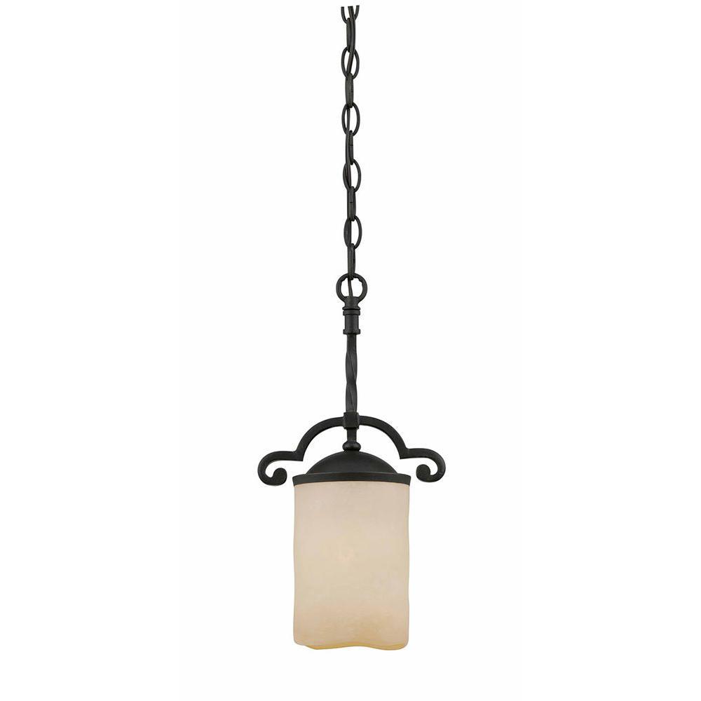 Filament Design Kelab 1-Light Textured Black Mini-Pendant